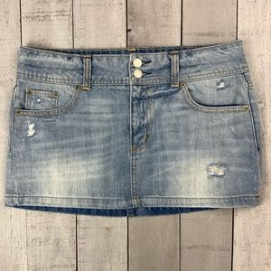 American Eagle Outfitters jean mini skirt